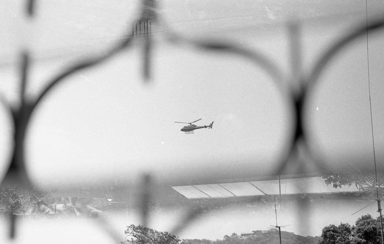 Helicóptero con Ilford HP5 Plus 400