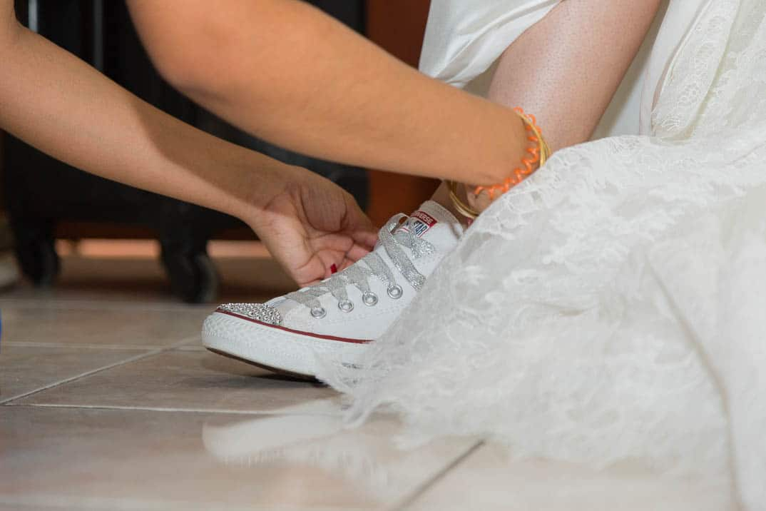 Converse shoes in the wedding