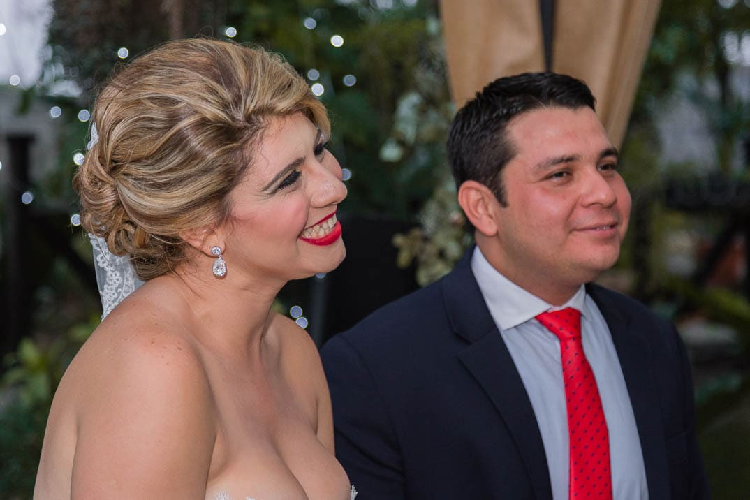 Itzel y Pichi el día de su boda