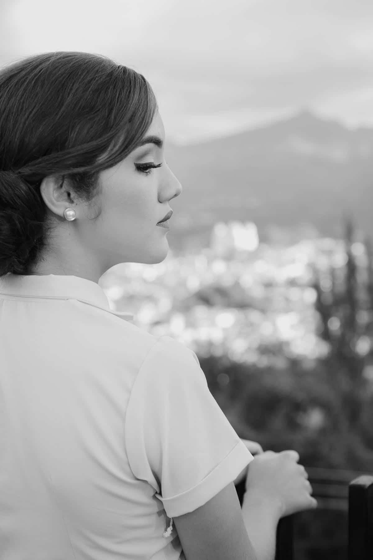Retrato en blanco y negro en sesión de fotos en Esquipulas.